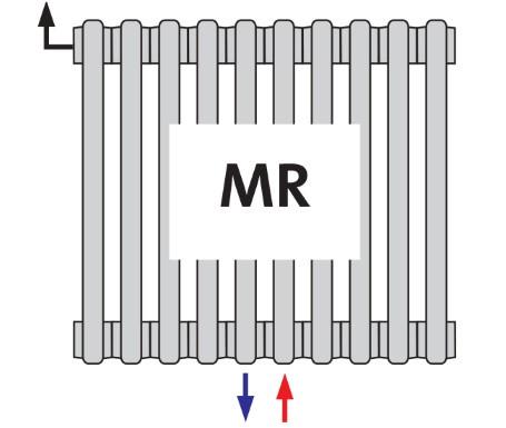 Радиатор трубчатый DL 3180 MR центральное подключение